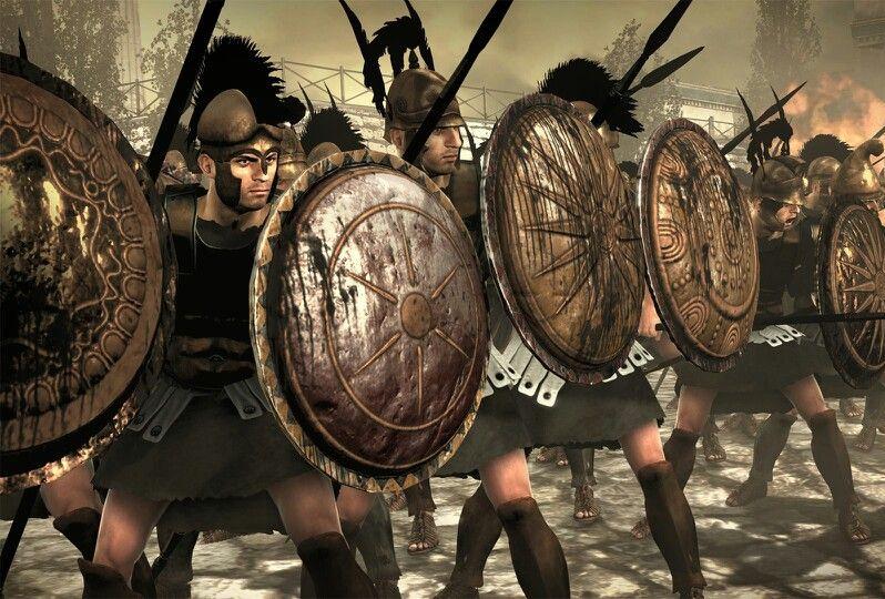 Falanga Seleukidów. Grafika z gry Total War. Rome II.