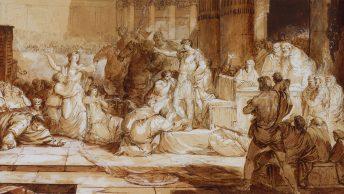 Flamininus przyznający wolność Grekom.