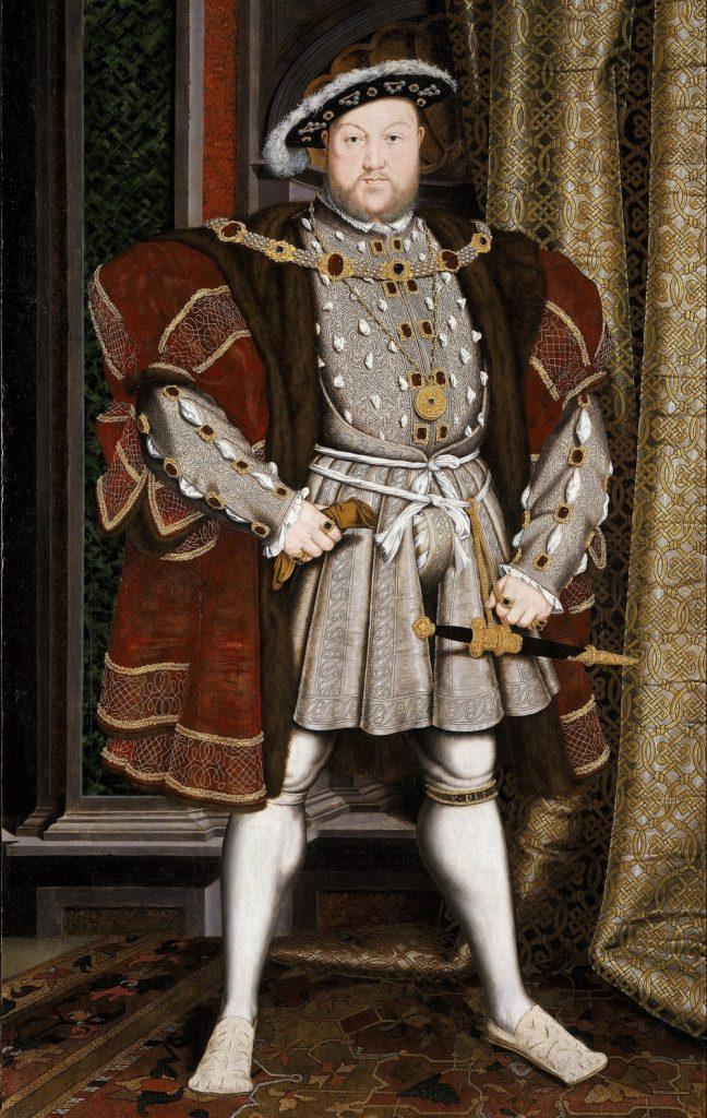 Henryk VIII Tudor po tym, jak dowiedział się o przedślubnych romansach Katarzyny nigdy już nie spotkał się z żoną  (Hans Holbein młodszy/domena publiczna).