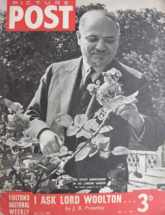 Iwan Majski na okładce brytyjskiego tygodnika. 12 lipca 1941 roku.
