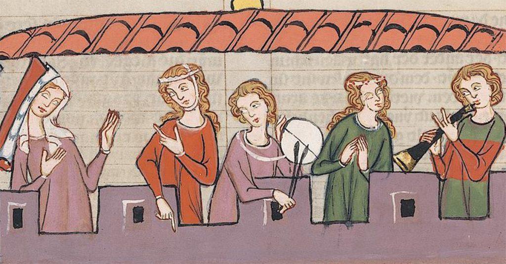Miniatura z tzw. Kodeksu Manesse. XIV wiek.