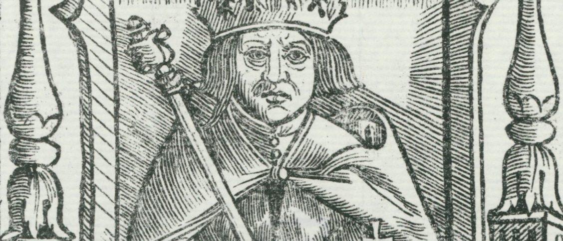 Król Aleksander Jagiellończyk na drzeworycie z początku XVI wieku.