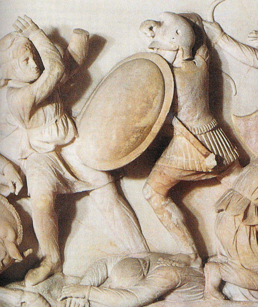 Macedońscy żołnierze na płaskorzeźbie z IV wieku p.n.e.