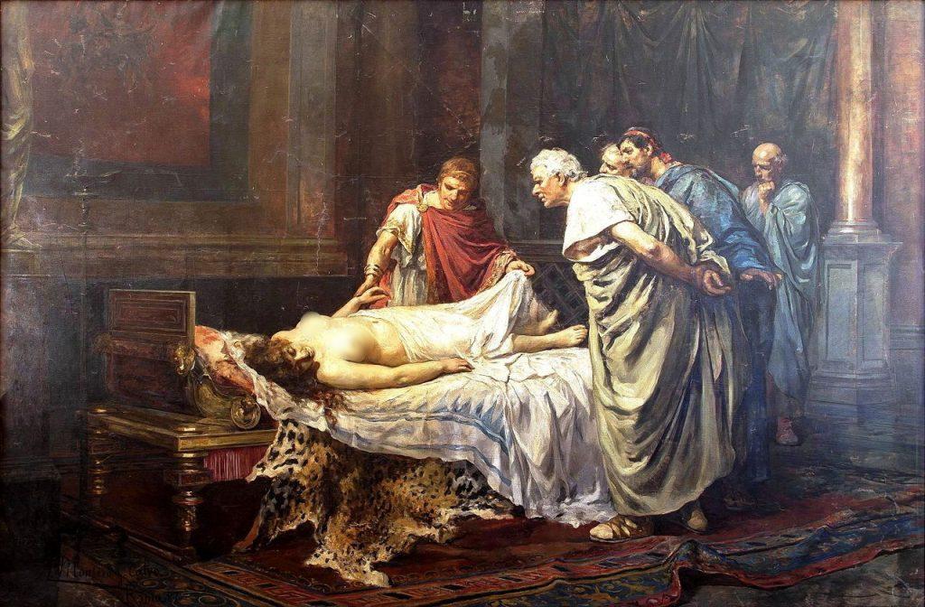 Neron nad ciałem swojej matki. Obraz Arturo Montero y Calvo (domena publiczna).