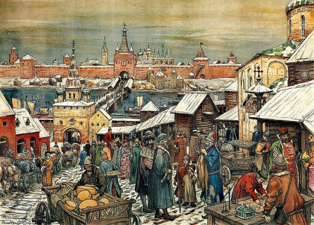 Nowogród Wielki na obrazie Apollinarija Wasniecowa (domena publiczna).