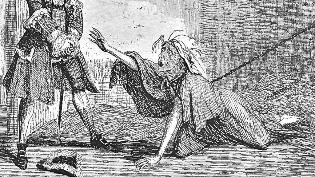 Odwiedziny w Bedlam. Ilustracja prasowa z epoki.