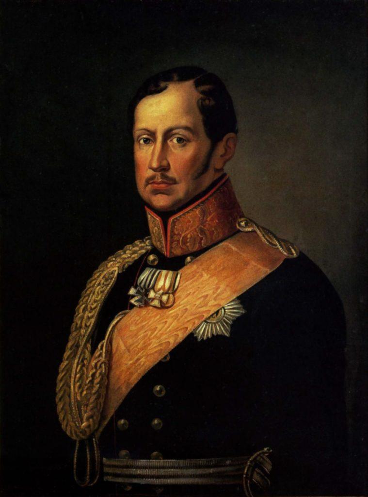 Ojciec zakochanego w Elizie Wilhelma. król Prus Fryderyk Wilhelm III (domena publiczna).