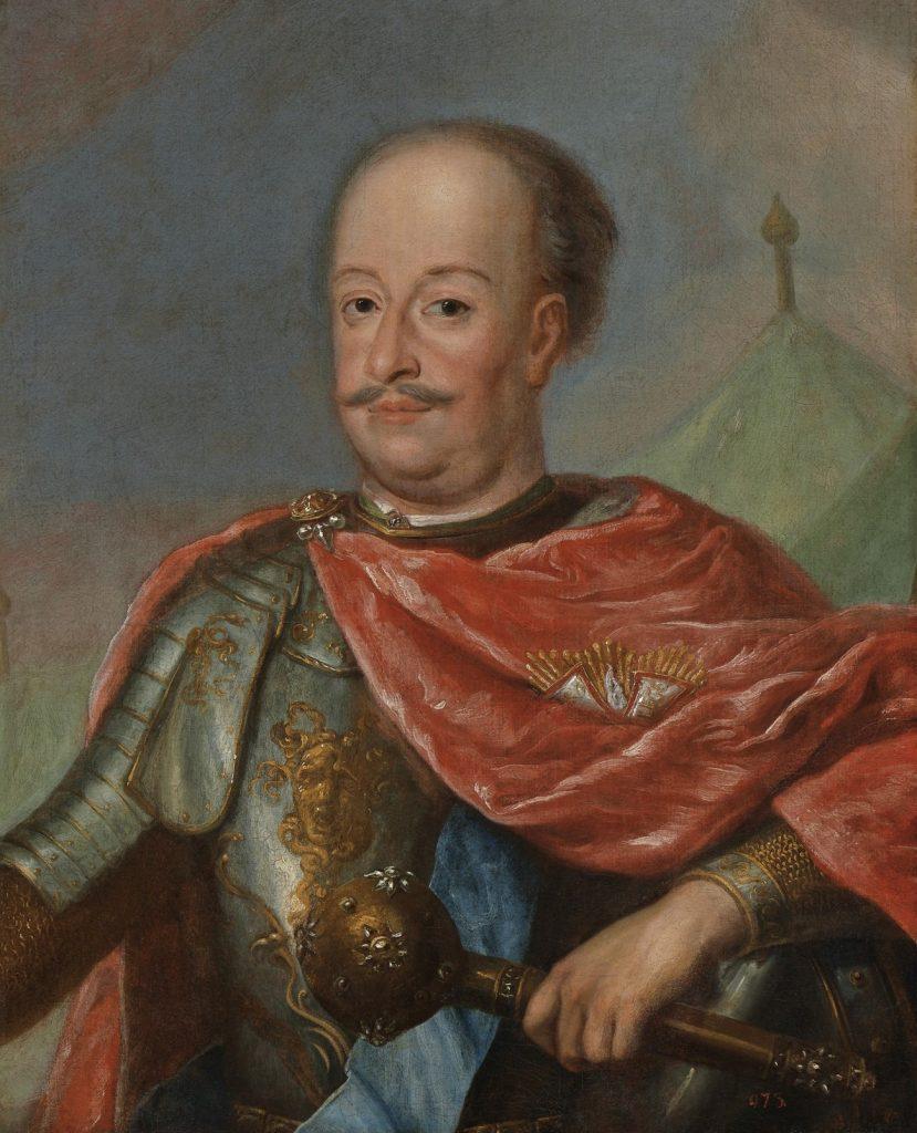 Portret Adama Mikołaja Sieniawskiego z początku XVIII wieku (domena publiczna).