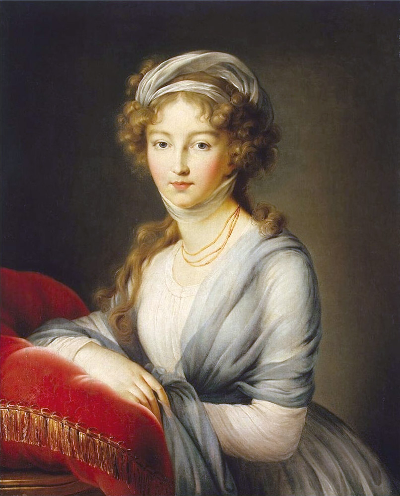 Portret Elżbiety namalowany w 1795 roku (Élisabeth Vigée-Lebrun/domena publiczna).