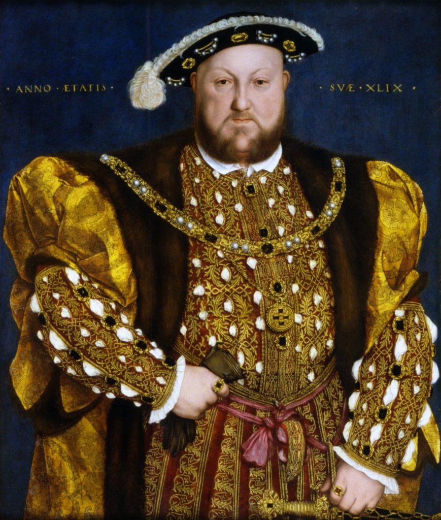 Portret Henryka VIII z roko 1540 (Hans Holbein młodszy/domena publiczna).