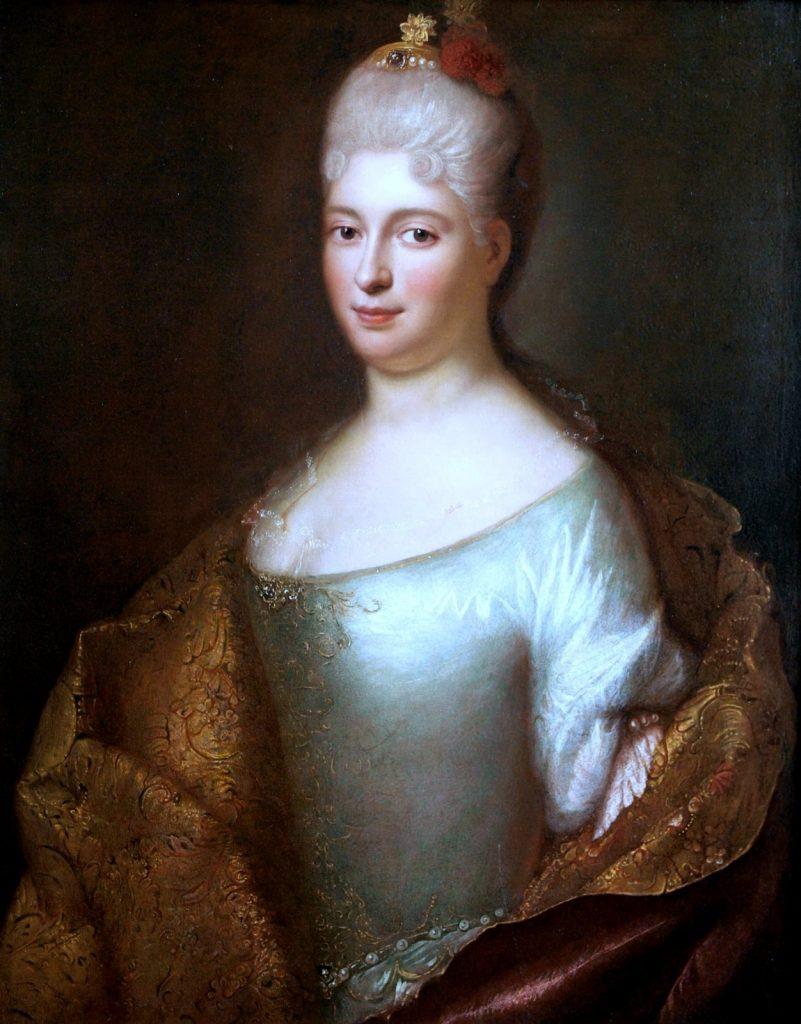 Prawdopodobny portret Elżbiety Sieniawskiej z Lubomirskich (Ádám Mányoki/domena publiczna).
