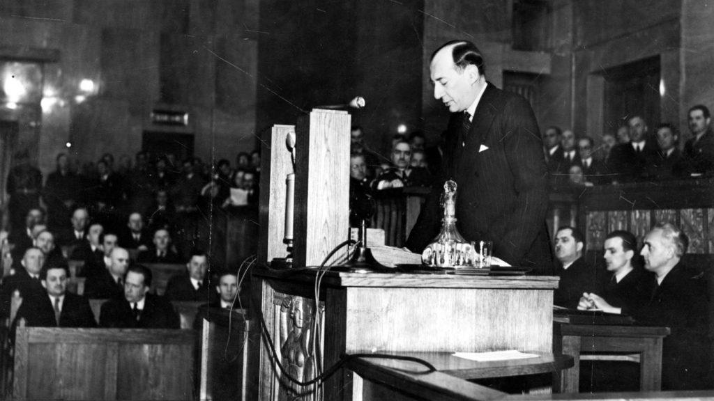 Przemówienie Józefa Becka w Sejmie. 5 maja 1939 roku.