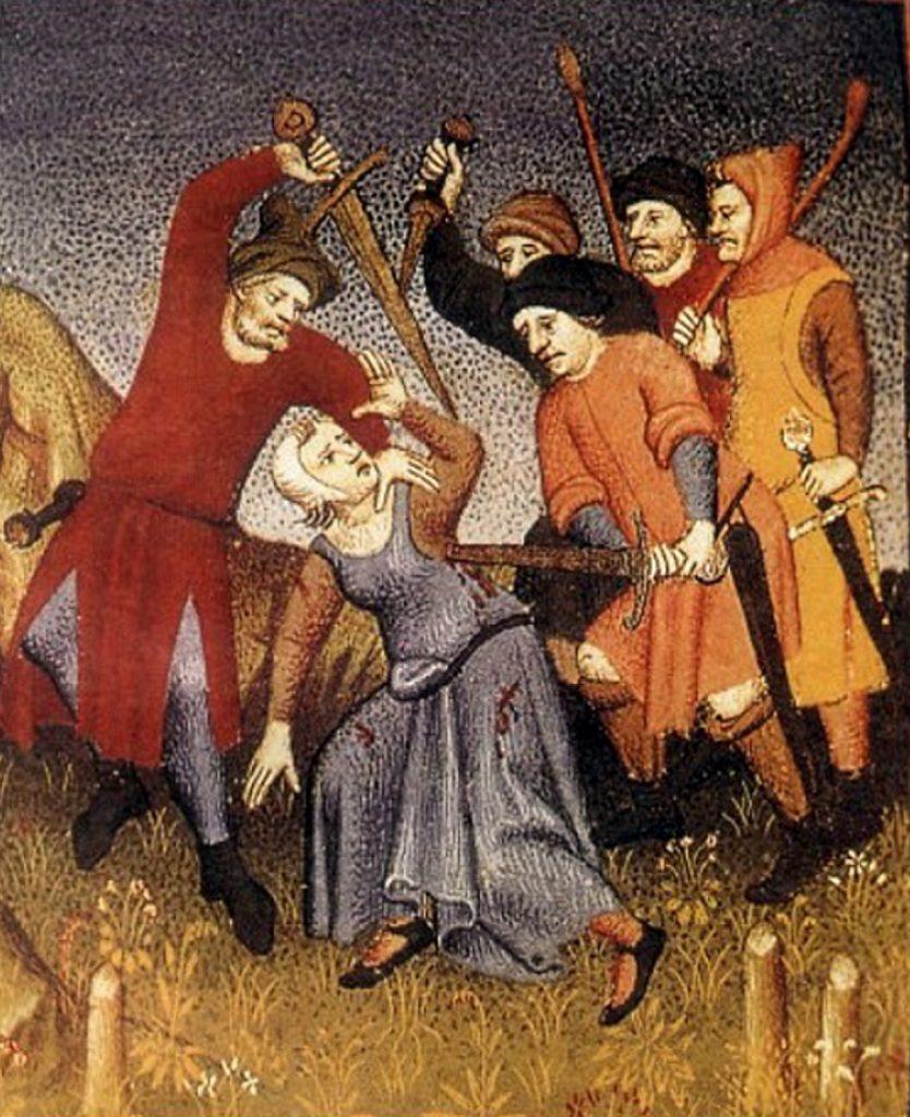 Przestępczość w średniowiecznej Anglii była głównie rodzinnym zajęcie (domena publiczna).