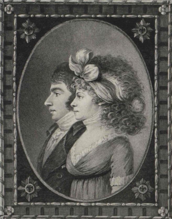 Rodzice Luizy Antoni Henryk Radziwiłł i Luiza z Hohenzollernów (domena publiczna).