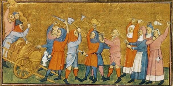 Średniowieczna Anglia zdecydowanie nie była bezpiecznym miejscem do życia. Ilustracja poglądowa (domena publiczna).