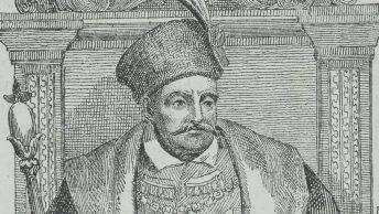 Stefan Batory na litografii z XIX wieku.