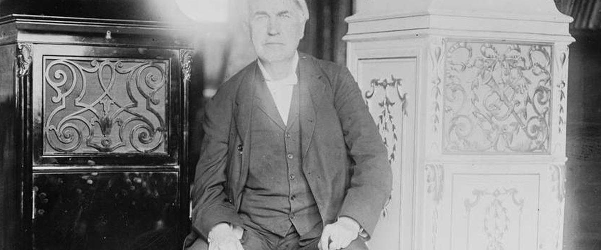 Thomas Edison rozświetlający mroki... rzekomo