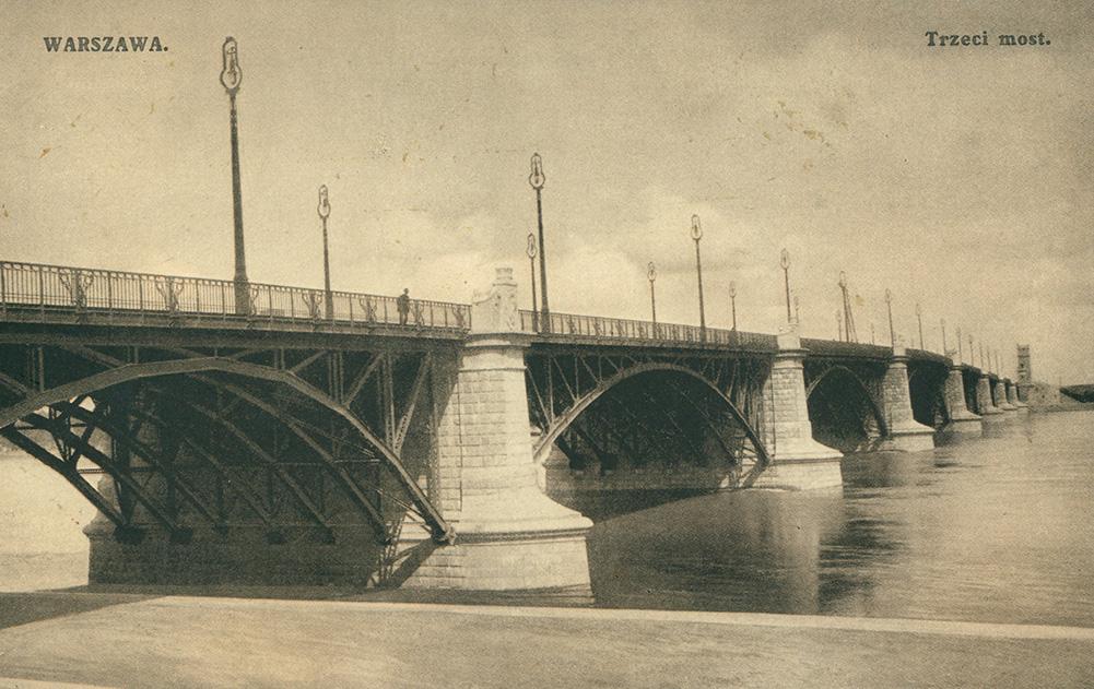 Trzeci most w Warszawie. Pocztówka sprzed I wojny światowej