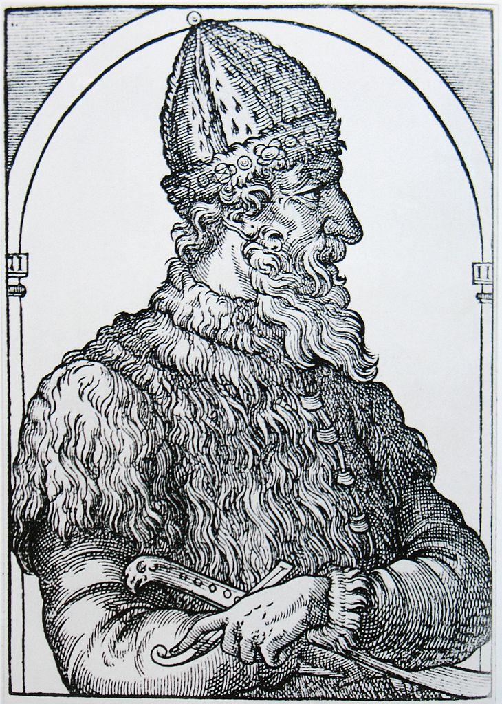 XVI-wieczne wyobrażenie Iwana III Srogiego (domena publiczna).