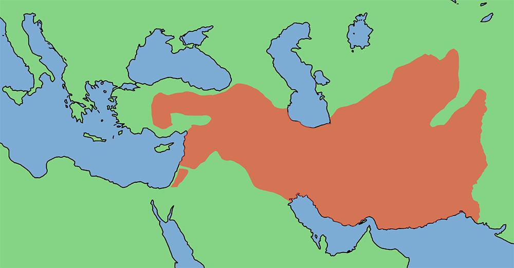 Zasięg państwa Seleukidów w 300 roku p.n.e.