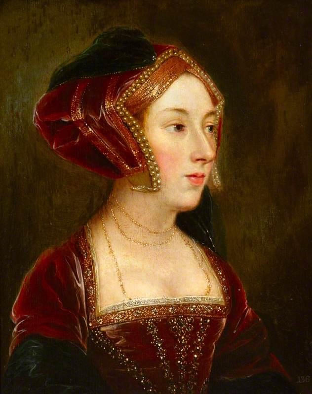 Anna Boleyn w wyobrażeniu XVIII-wiecznego anonimowego artysty (domena publiczna).