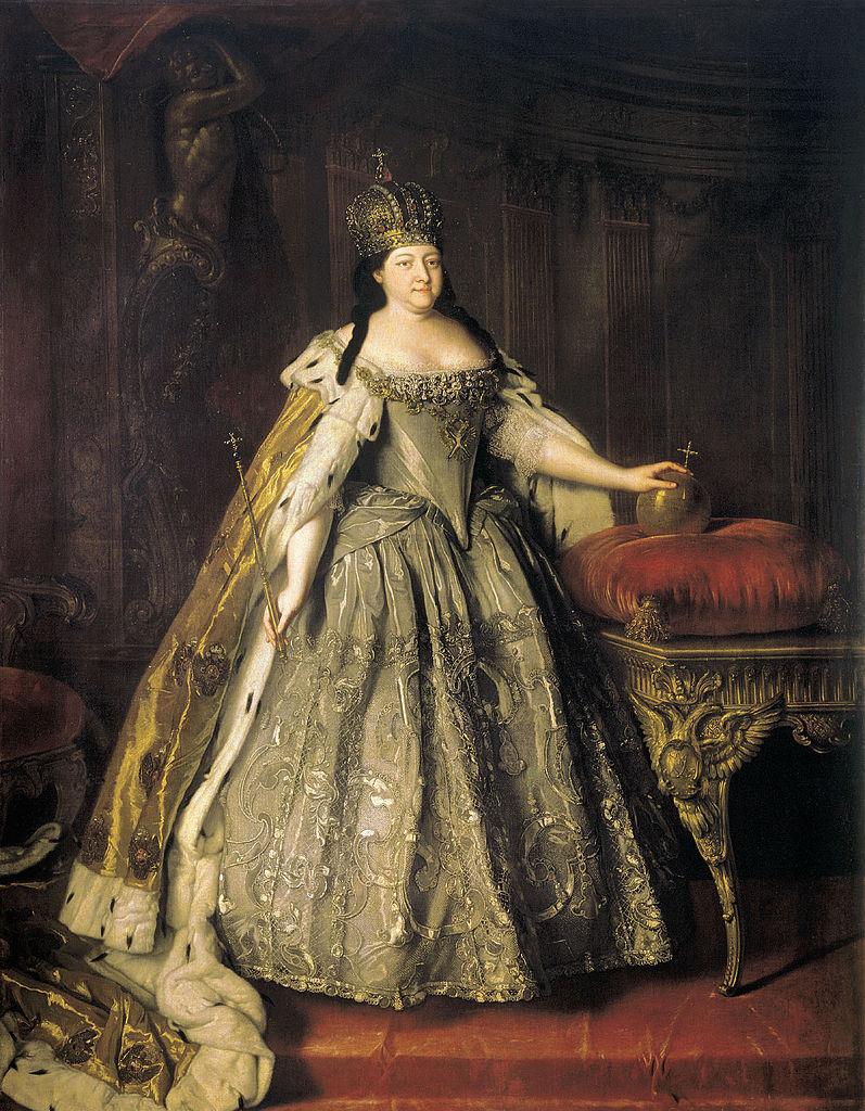 Anna sportretowana już jako caryca (Louis Caravaque/domena publiczna).