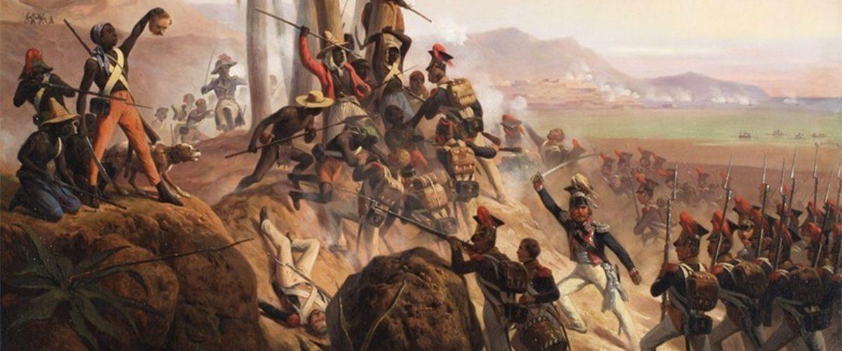 Bitwa na San Domingo. Obraz Januarego Suchodolskiego.