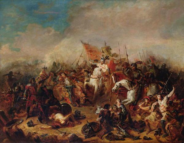 Bitwa pod Hastings (Francois Hippolyte Debon/domena publiczna).