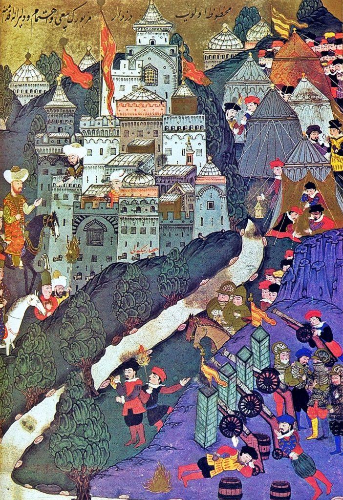Bitwa pod Nikopolis na tureckiej miniaturze.