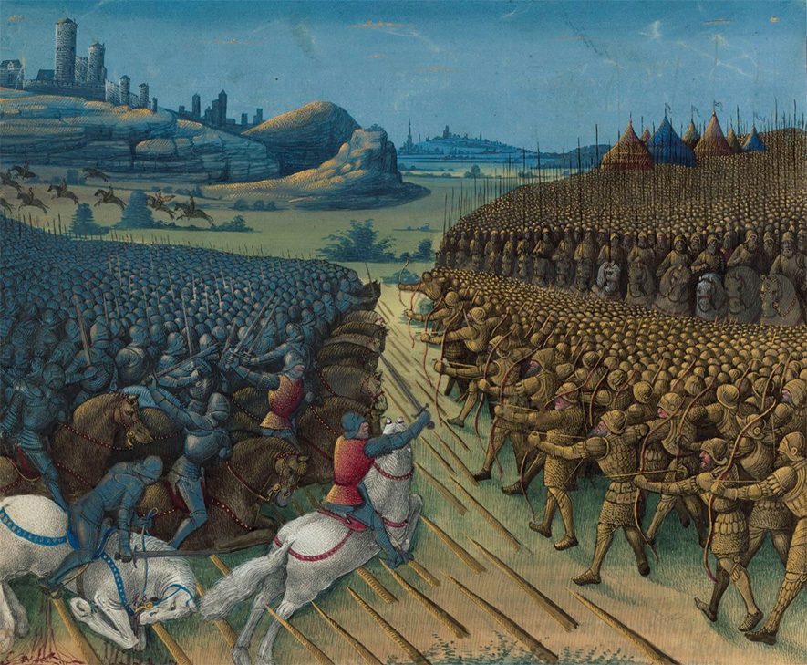 Bitwa pod Nikopolis. Miniatura XV-wieczna.