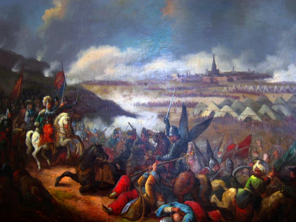 Bitwa pod Wiedniem na obrazie Jana Krzysztofa Damela.