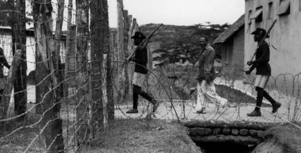 Brytyjski obóz w Kenii. Kadr z materiału BBC.