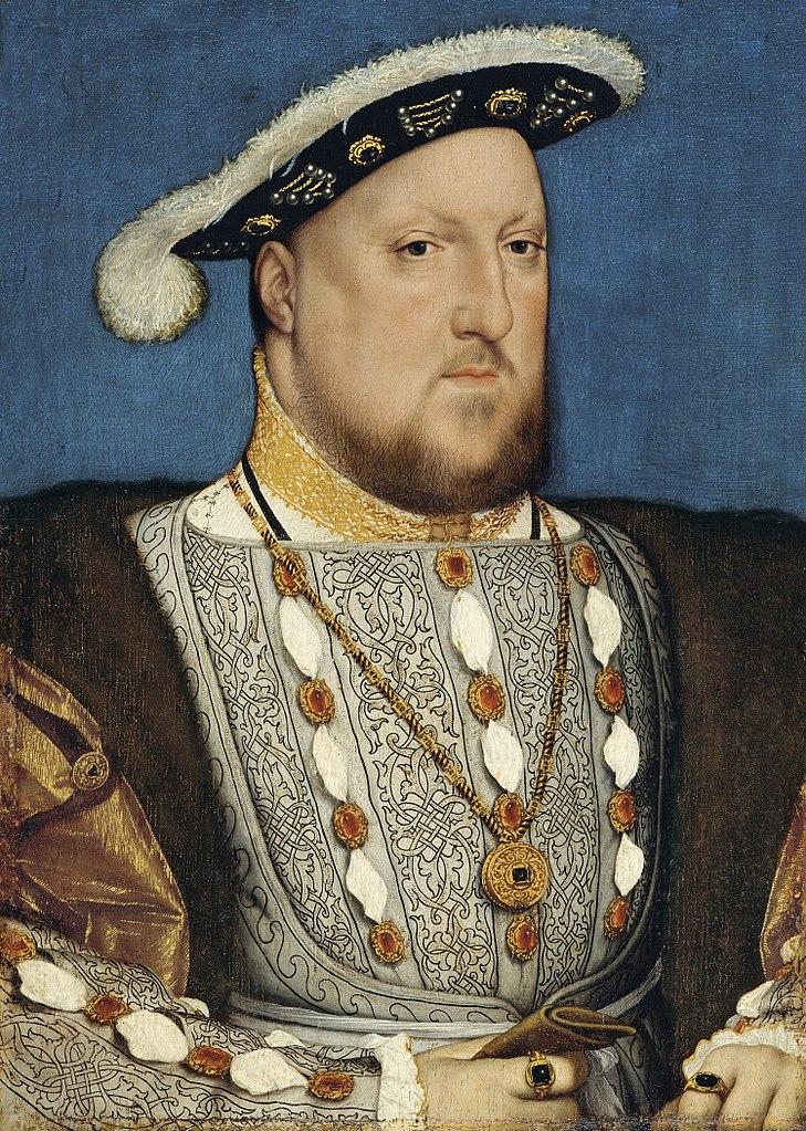 Chcąc pozbyć się żony Henryk oskarżył ją najcięższe zbrodnie (Hans Holbein młodszy/domena publiczna).