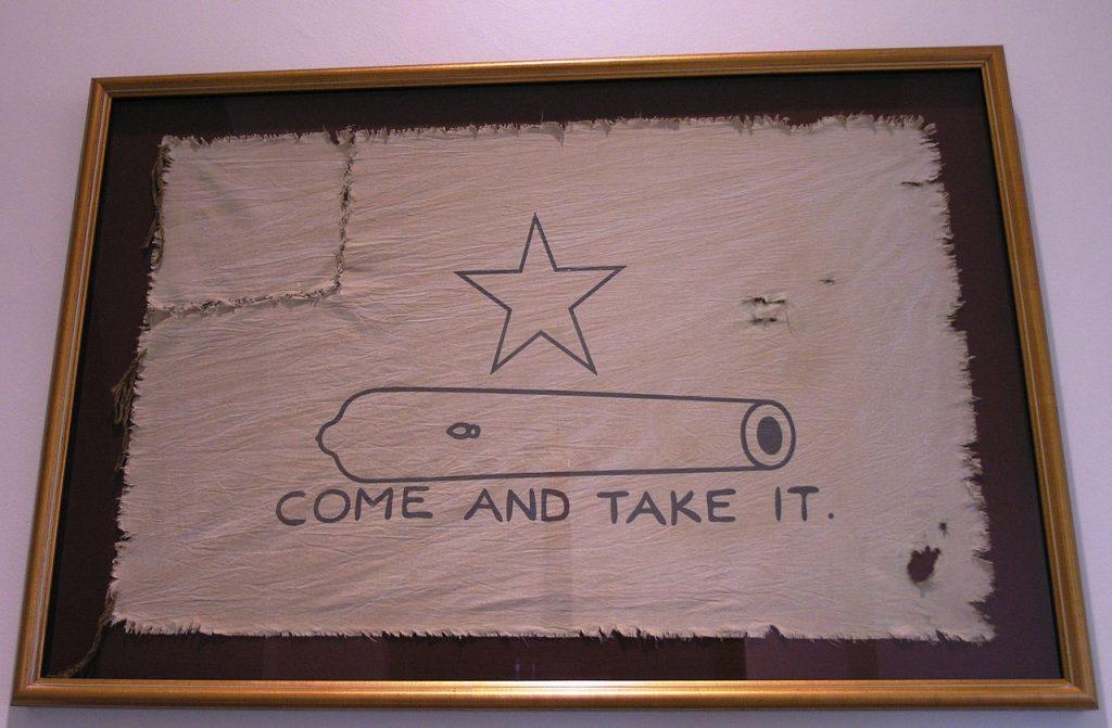 Flaga z bojowa kolonistów z Gonzales (Daniel Mayer/CC BY-SA 3.0).