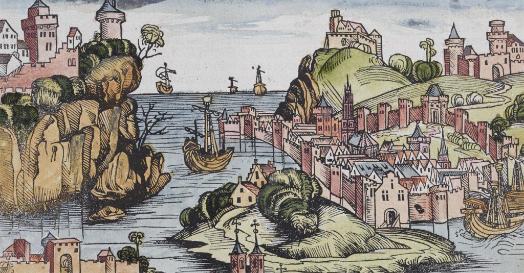 Grafika użyta w tzw. Kronice Norymberskiej jako wyobrażenie Polski.