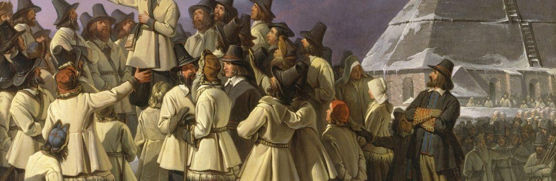 Gustaw Waza wzywa szwedzkich chłopów do buntu przeciwko Duńczykom