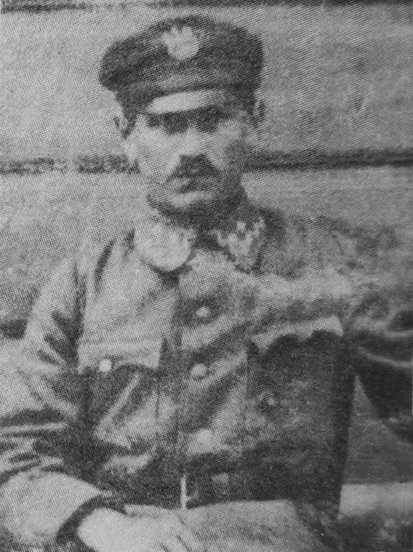 Izaak Jungerman na zdjęciu z około 1917 roku (domena publiczna).