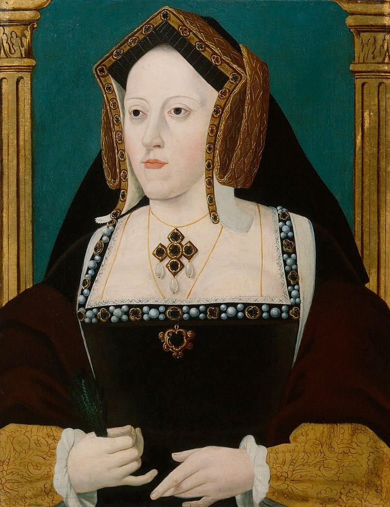 Katarzyna Aragońska na portrecie z około 1525 roku (domena publiczna).