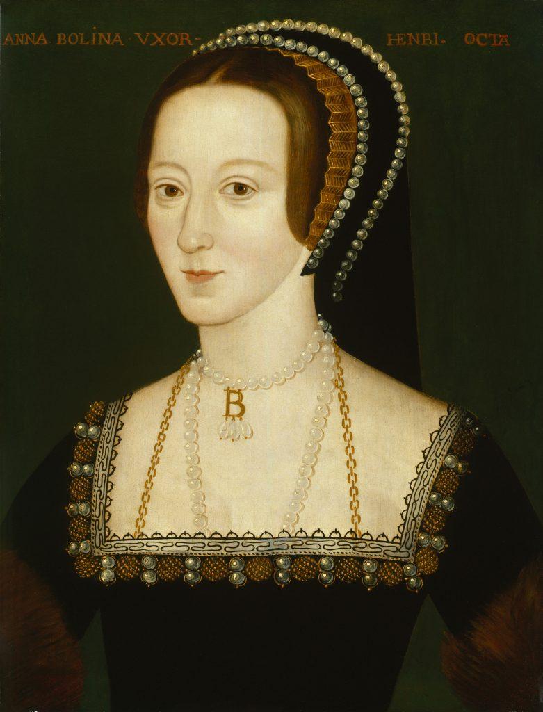 Kopia portretu Anny Boleyn wykonanego w pierwszej połowie lat 30. XVI wieku (domena publiczna).