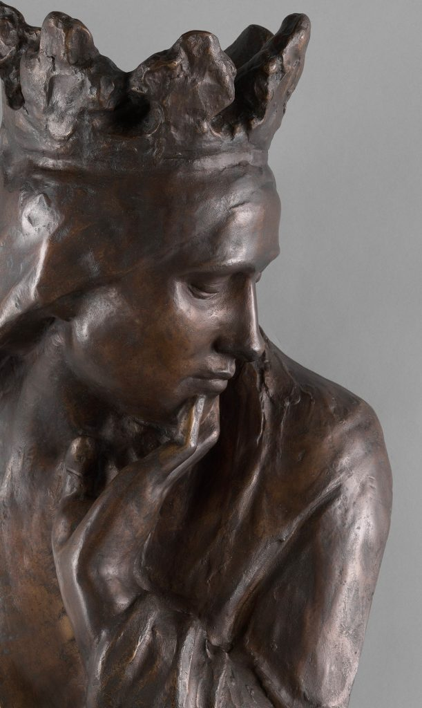 Królowa Jadwiga. Rzeźba Wacława Szymanowskiego (domena publiczna)