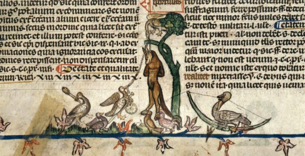 Lis na stryczku. Symboliczne wyobrażenie z kopii średniowiecznego Romansu o lisie