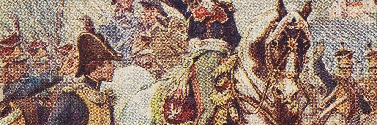 Marsz, marsz Dąbrowski. Fragment pocztówki