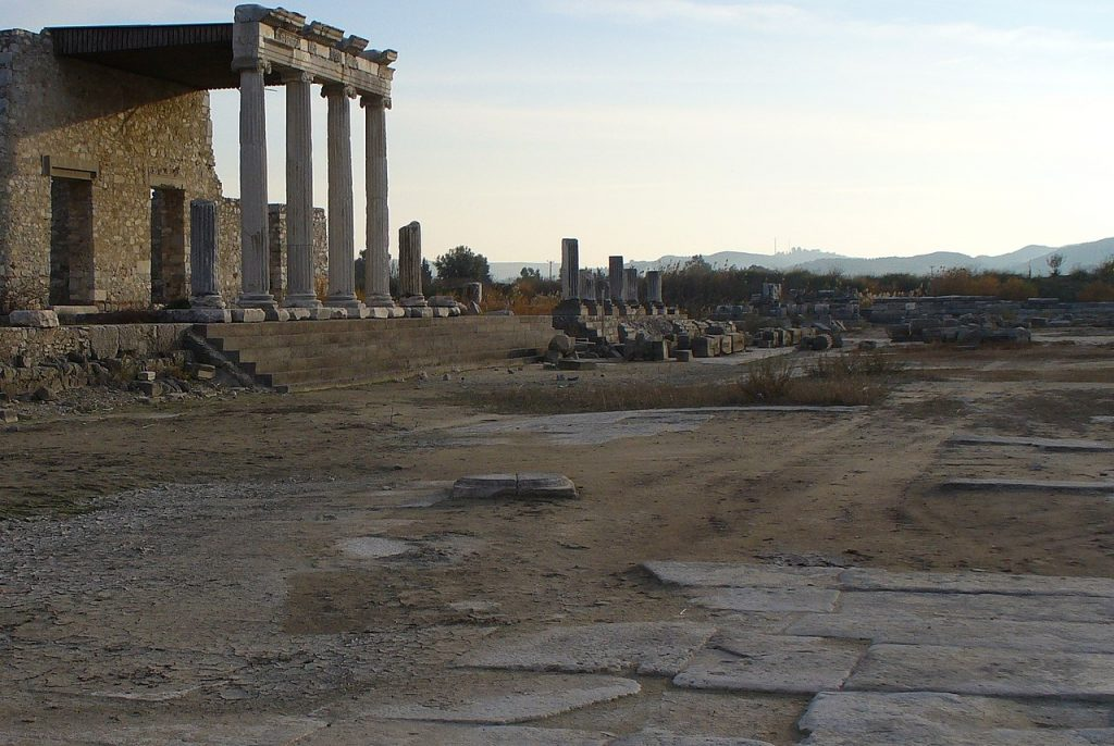 Mimo że Milet został szybko odbudowany to już nigdy nie odzyskał swojej świetności. Na zdjęciu ruiny starożytnej zabudowy miasta (QuartierLatin1968/CC BY-SA 2.0).