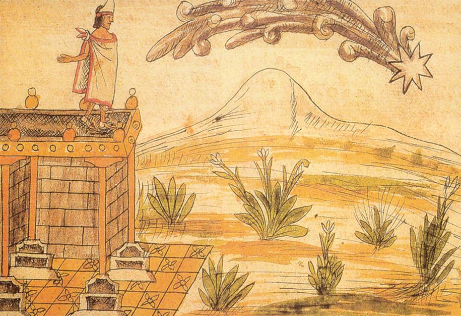 Montezuma II spoglądający na kometę.