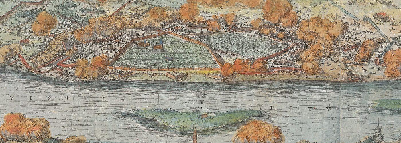 Oblężenie Tounia przez Szwedów w 1658 roku. Grafika Willema Swiddego.