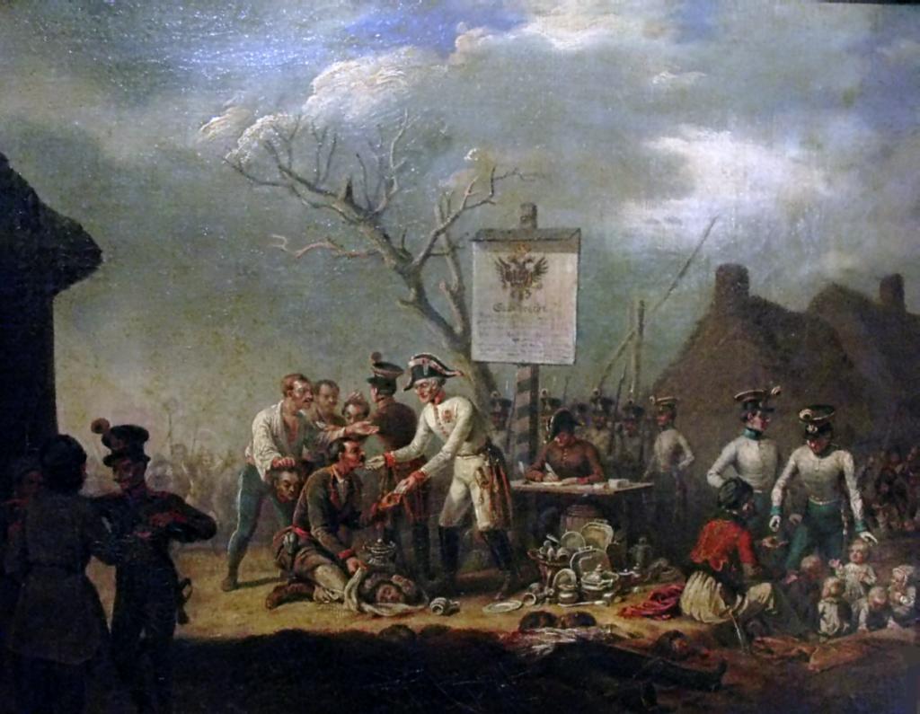 Obraz Jana Nepomucena Lewickiego Rzeź galicyjska (domena publiczna).