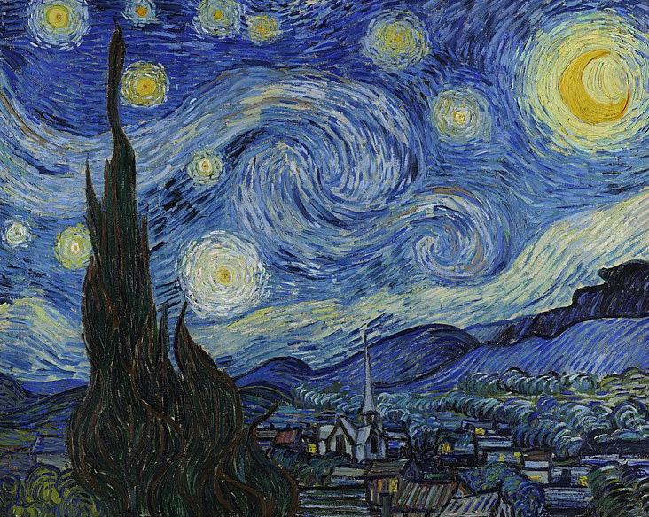 Obraz Vincenta van Gogha Gwieździsta noc