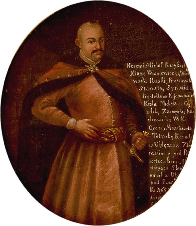 Kopia portretu Jeremiego Wiśniowieckiego, wykonanego już po jego śmierci przez nieznanego autora (domena publiczna).