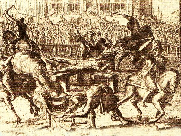 Piekierskiego poddano straszliwym katuszom (domena publiczna).
