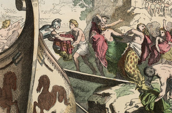 Piraci byłi prawdziwą zmorą Morza Śródziemnego w I wieku p.n.e. (domena publiczna).